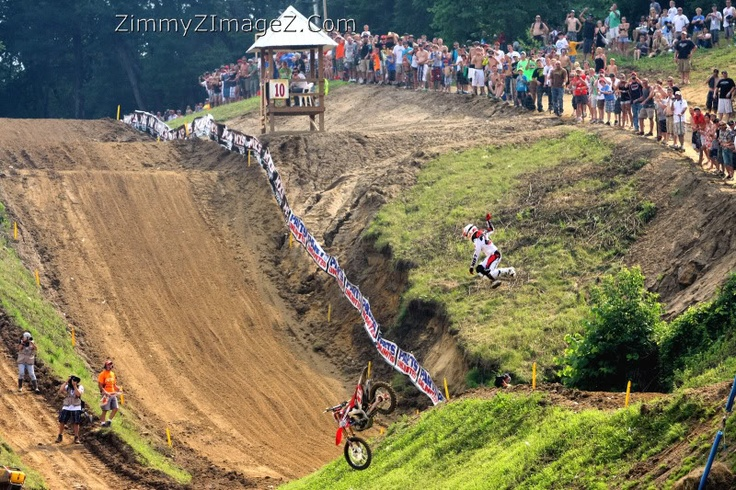 Chad Reed again with the hairiest get-off of all time.  The fact that he finished the race is beyond comprehension.