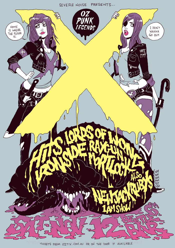 Gig Poster by Sam McKenzie - I'd love to get this guy to do the cover art for #Nostrildamus