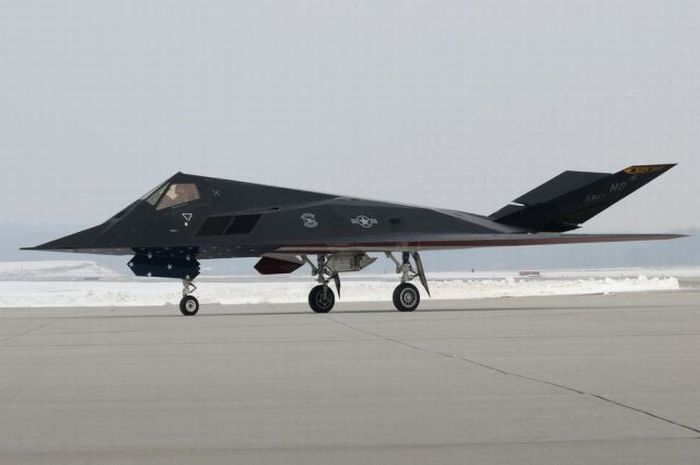 "Lockheed-Martin F-117 Nighthawk stealth fighter (1983-2008)  RIP The F-117 was a single-seat, twin-engine stealth attack aircraft. The F-117 was the first operational aircraft to be designed around stealth technology. The Nighthawk was shrouded in secrecy until it was revealed in 1988.  The F-117 was widely publicized for its role in the Gulf War of 1991. Although it was commonly referred to as the ""Stealth Fighter"", it was a strictly ground-attack aircraft."