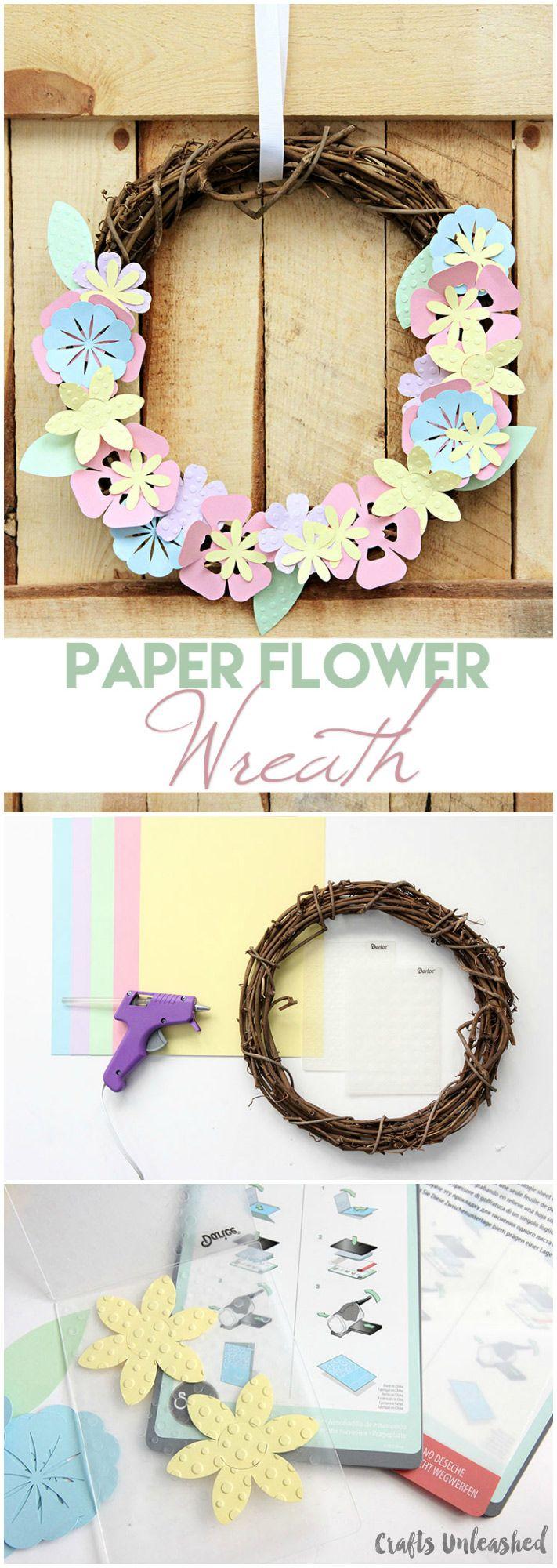 Diy paper flower wreath ruffled - Diy Paper Flower Wreath Spring Decor Consumer Crafts