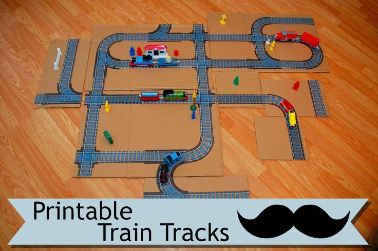 This free PDF printable train track project is the perfect activity for your kids. Click through and find out how to make this.