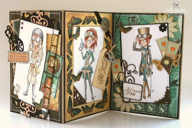 kylie's kraft room: Tickled Pink Stamps May Release - Lil Victorian Steampunk: Eric