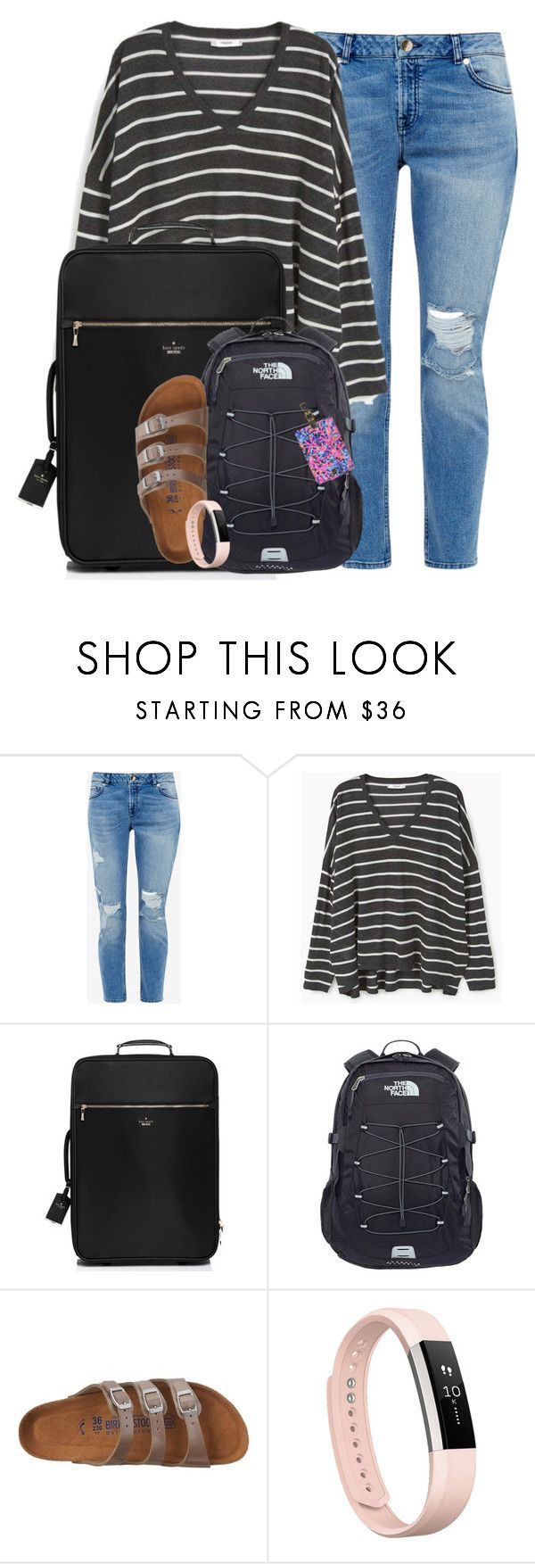 """""""Leaving for Mexico tomorrow!!!!!"""" by amberfmillard-1 ❤ liked on Polyvore featuring Ted Baker, MANGO, Kate Spade, The North Face, Birkenstock, Fitbit and Lilly Pulitzer"""