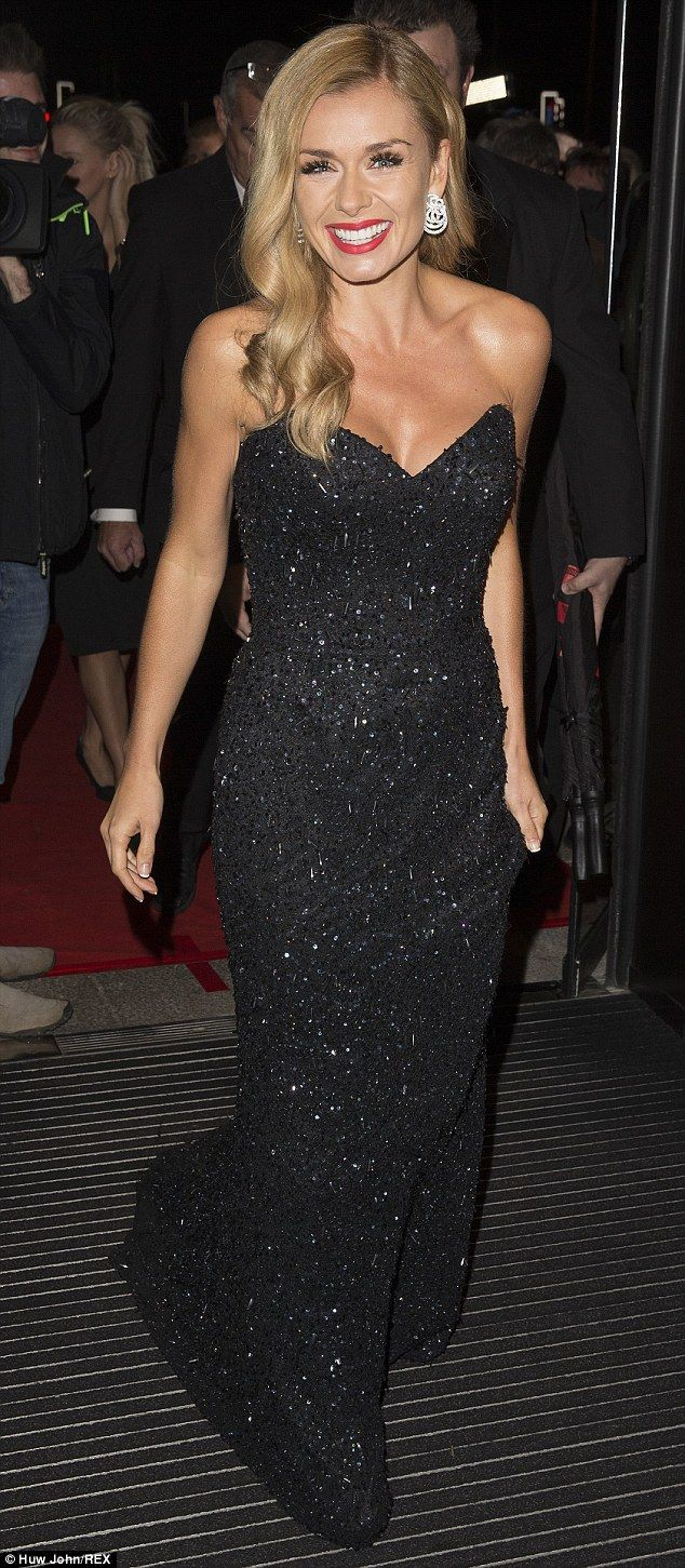 Katherine Jenkins arrives at BAFTAs without husband Andrew Levitas #dailymail