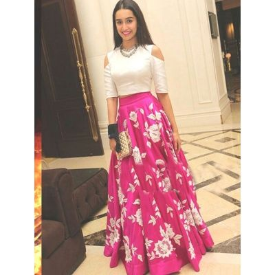 Shraddha Kapoor Pink Bhagalpuri Silk