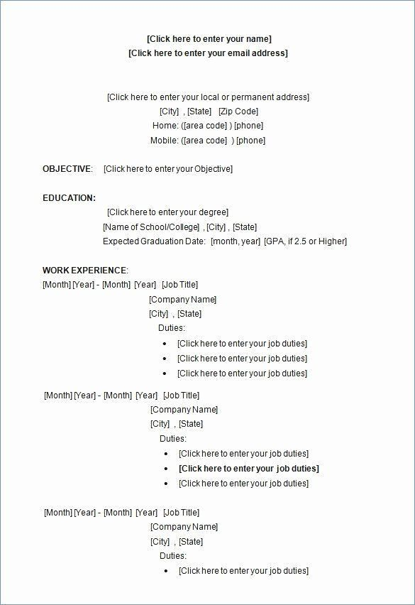 Free Word Resume Template Best Of Free Resume Templates For Word