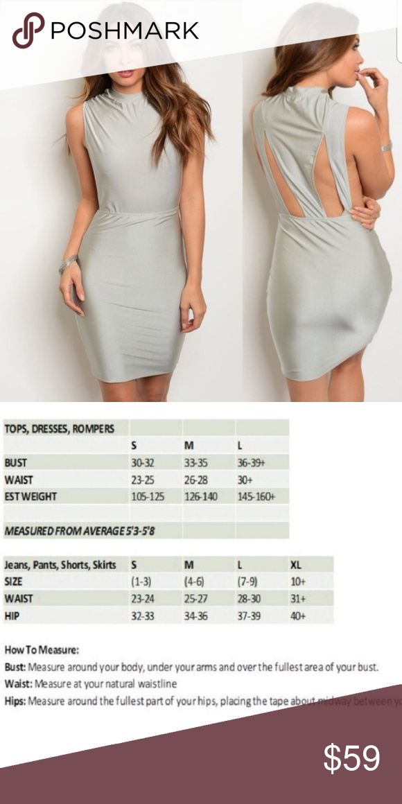 ⤵️ Lowest! Ciao_Couture Silver Bodycon Dress Description: Sleek, Sexy and Fa…