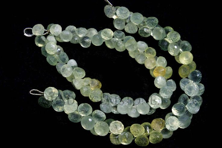 Semiprecious Stone, Multi Prehnite Faceted Onion (Quality A) / 7.5 to 8 mm / 18 cm / PRE-021 by beadsogemstone on Etsy #multibeads #prehnitebeads #onionbeads #gemstonebeads #semipreciousstones #semipreciousbeads #briolettes #jewelrymaking #craftsupplies #beadsofgemstone #stones #beads