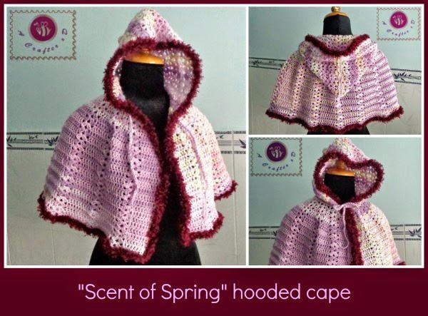 Spring Hooded Crochet Cape | AllFreeCrochet.com