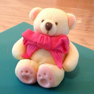 Sugar paste bear step by step TUTORIAL
