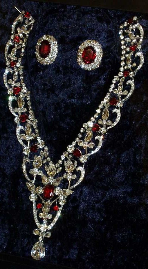 Queen Elizabeth's ruby and diamond earrings formerly ...