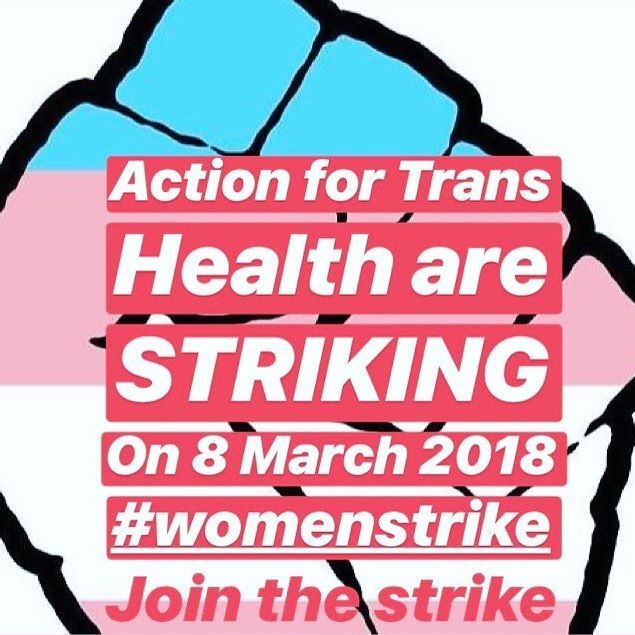 @act4transhealth have endorsed the Women's Strike UK . . ⚡️Event #4 Bread and Roses for all, and Hormones -27th Feb St Johns Church Bethnal Green 7pm TRANSFEMINIST DEMANDS ARE NOT SO DIFFERENT TO THE DEMANDS OF CIS-CENTRED FEMINISM. SPEAKERS: Joni Cohen | Mijke Van Der Drift | Kuchenga | Ada Cable Trans women, just like cis women, are in desperate need of the expansion of their rights regarding their bodily autonomy, access to healthcare, and reproductive justice. Trans and cis feminist s...