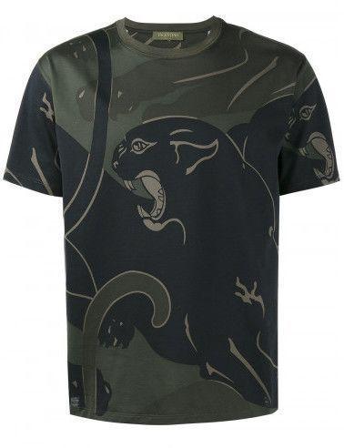 Valentino Rockstud panther print T-shirt #valentinorockstud