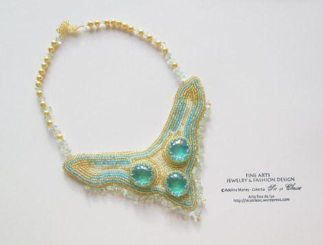 Bijuterii de lux, brodate manual, haute couture jewelry
