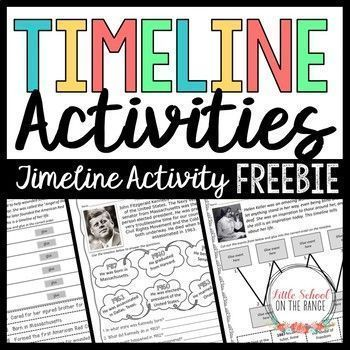 Timeline FREEBIE: This timeline activity is a sample of the complete unit: The new Timeline Activities - No Prep Unit is completely revised for the new school year!