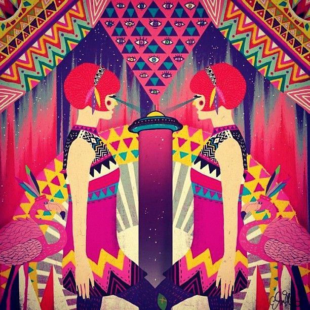 Diela Maharanie: Wall Murals, Illustration, Art, Ii Wall, Products, Design