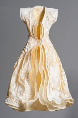 """Tori Ellison ~ """"Shell"""" paper dress 