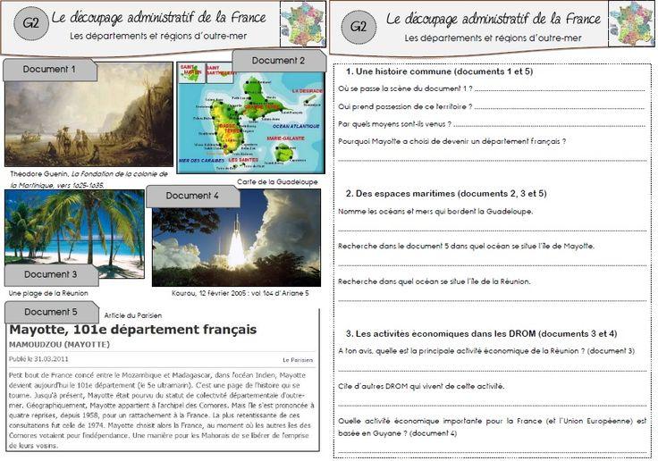 Géographie : le découpage administratif de la France | MA MAITRESSE DE CM1-CM2