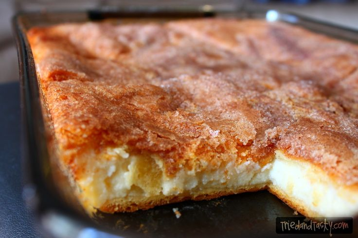 Sopapilla Cheesecake- made with crescent roll dough