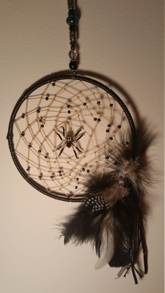 Spider Web Dreamcather by OptimisticOut1ook on Etsy