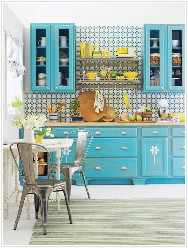 Sometimes, I want to paint my kitchen blue.