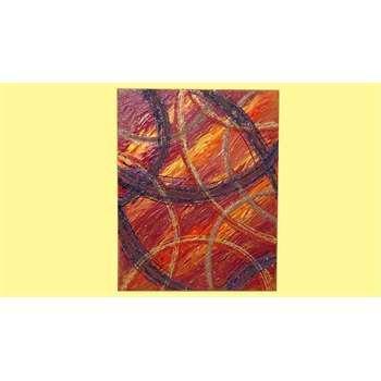 """ULTIMA CREAZIONE. Quadri Astratti. """" Sfavillio in rosso 2 """" Acrilico spatolato su tela impastato con malte sabbiate e graniglie. Scaglie di vetro, glitter e perline rocaille per le decorazioni in rilievo.  Le volute come movimento si caratterizzano particolarmente su uno sfondo sfumato nelle tonalità calde. Il quadro moderno e astratto, evidenzia le parti in oro e quelle viola formando una situazione di contrasto luminoso."""
