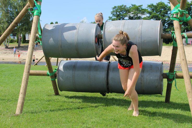 Super gave obstacle run op ons vakantiepark!