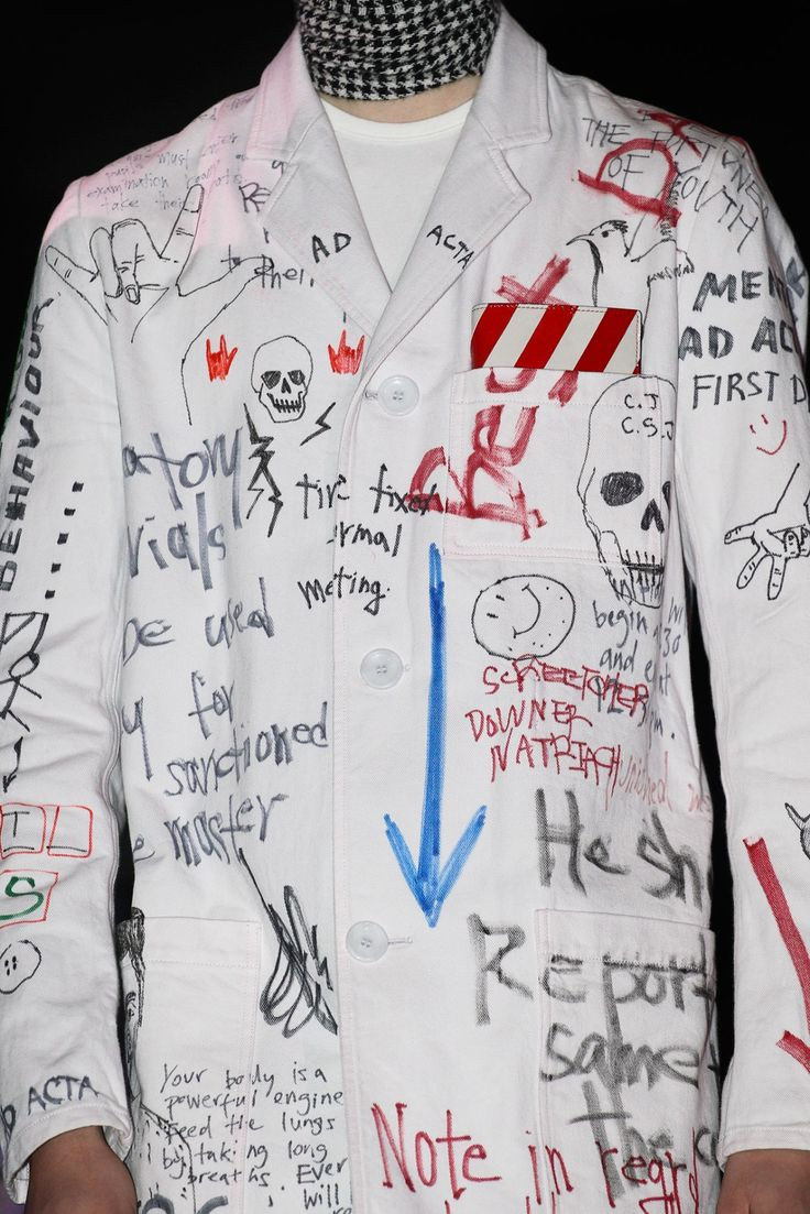 """""""Your body is a powerful engine Feed the lungs by taking long breaths. Detail at Raf Simons FW 2015 """""""