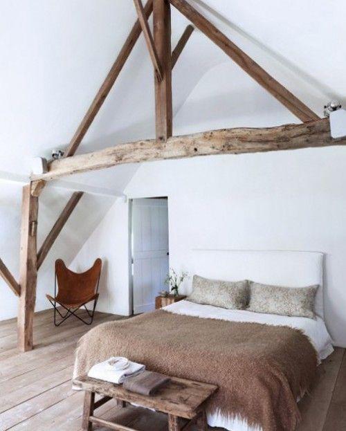 onze zolder slaapkamer Landelijk modern