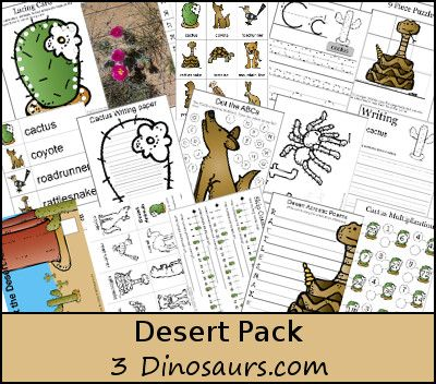 Free Desert Pack Over 145 Pages Of Activities For Ages 2