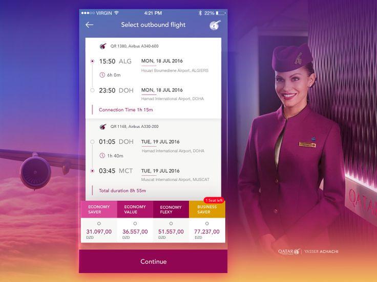 Outbound Flight Detail Qatar Airways by Yasser Achachi
