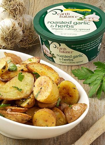 Herb & Garlic Roasted Potatoes vegan, plantbased, earth balance, made ...