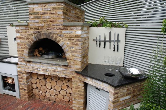 An enormously functional barbecue area.