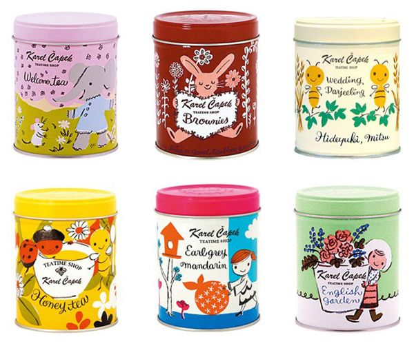 Tea tins from Japanese company Karel Capek: these are the cutest things ever! I so wish I could get my hands on some!