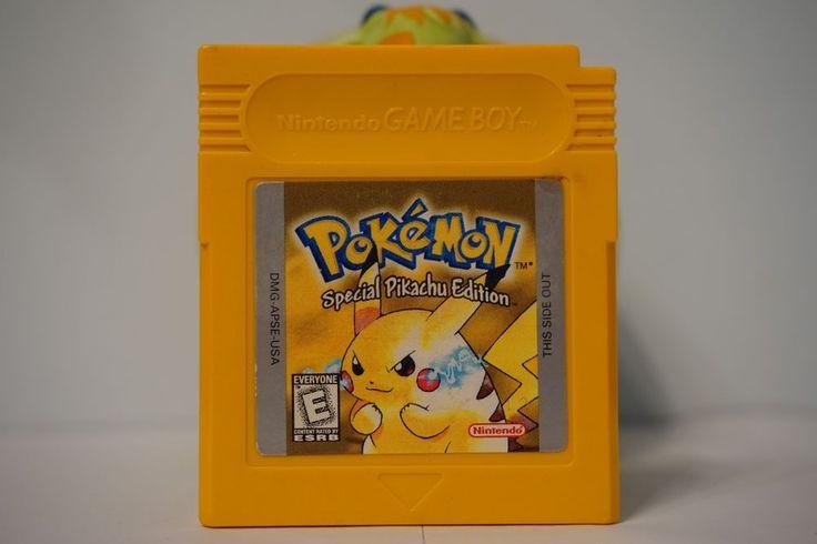 Pokemon Yellow Special Pikachu Edition game boy color gbc English SAVE USA 5634