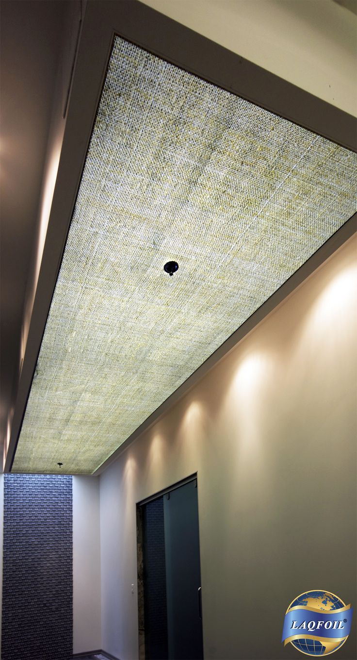 Kitchen Fluorescent Light Covers Aid Gas Range We Installed Laqfoil Stretch Ceiling As Diffuser ...