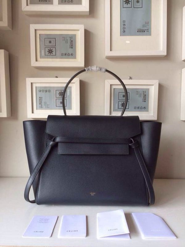 celine mini luggage red leather bag - celine belt bag black