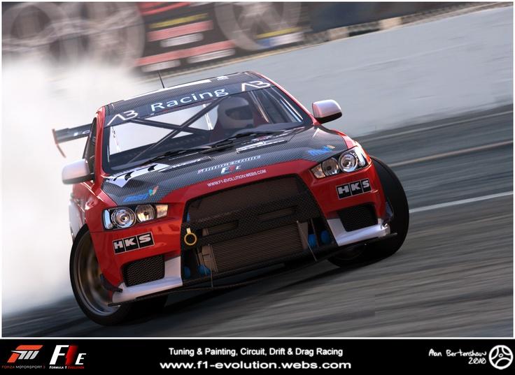 F1E Promo shots (F1E) Formula 1 Evolution. Mitsubishi