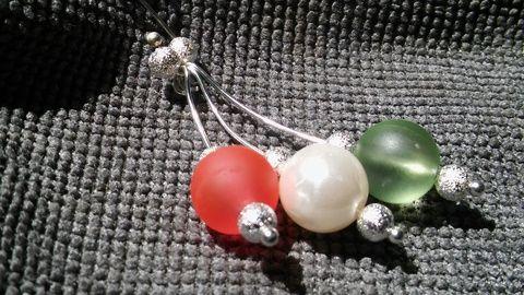 AKCIÓ!!JÚNIUS 10-23! Piros,fehér zöld,ez a magyar föld! nyaklánc (NoRoVilaga) - Meska.hu