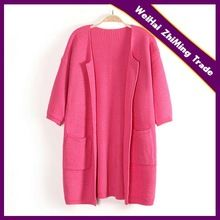 woman fashions pink color short sleeve loose long cardigan sweater Best Buy follow this link http://shopingayo.space
