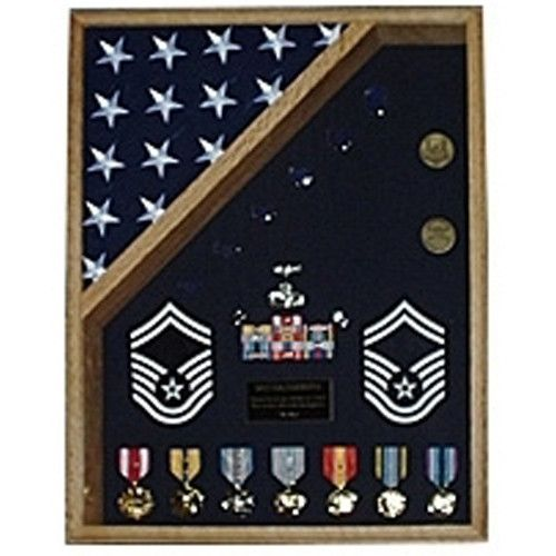 18x24 Military Shadow Box Hand Made By Veterans