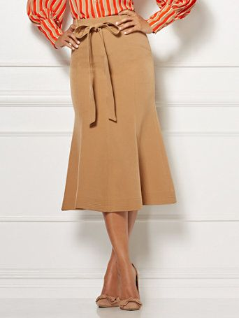 610994147 Shop Eva Mendes Collection - Claudine Flounced Skirt. Find your perfect  size online at the best price at New York   Company.