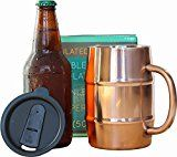 #9: Insulated Beer Mug  Ice Cold to the Last Drop! Perfect Gift for Beer Lovers  Double Wall Stainless Steel Copper Plated 17oz 500mL