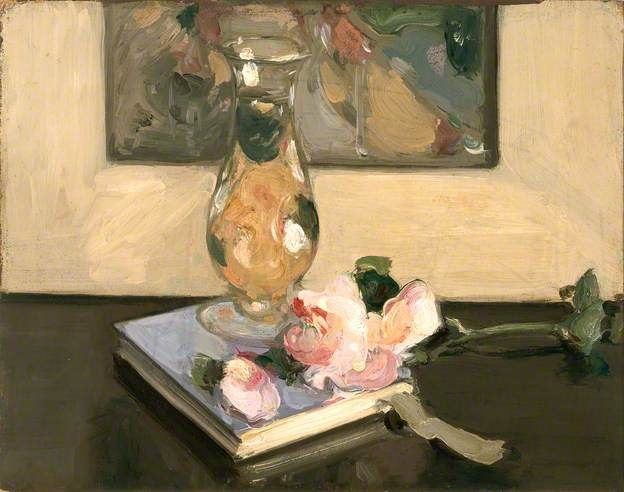 Vase and Flower on a Book, 1904 by John Duncan Fergusson