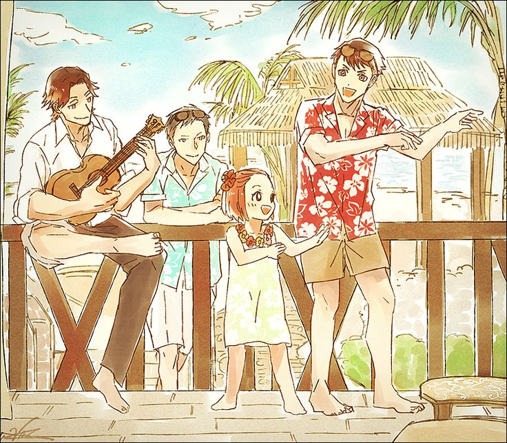 Amari, Tazaki, Kaminaga, and Emma! Twitter: https://twitter.com/Vansam21/status/752437593430560768 (Please support the original artist!)