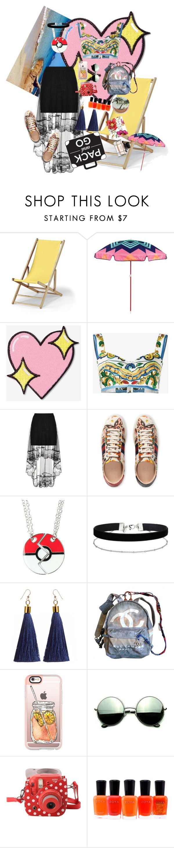 """Riomon-Go"" by stapleluc on Polyvore featuring Telescope Casual, Sunnylife, Big Bud Press, Dolce&Gabbana, Gucci, Miss Selfridge, Chanel, Casetify, Revo and Fujifilm"