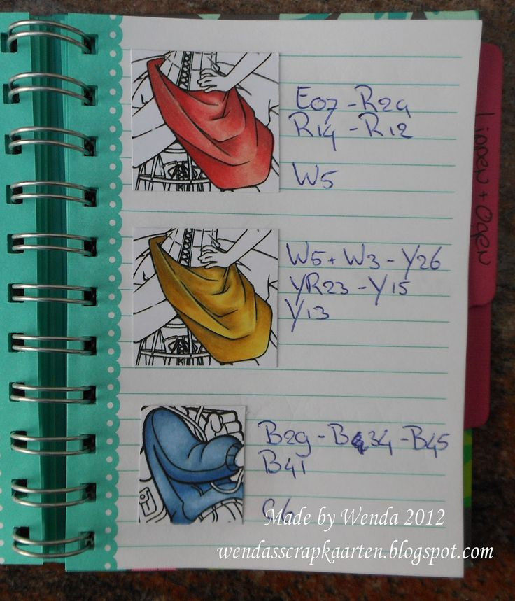 Copic Marker Europe: Wenda's Copic swatch book