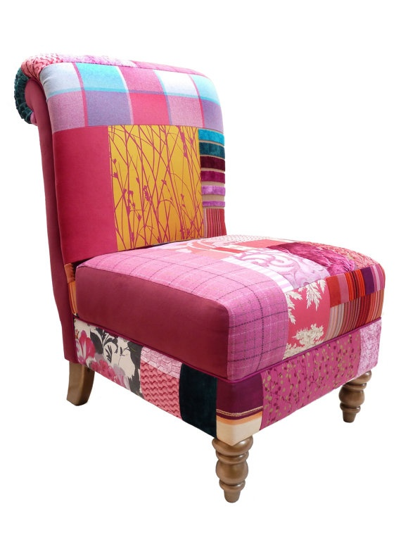 Patchwork Occasional Chair in Designers Guild and Harlequin fabrics