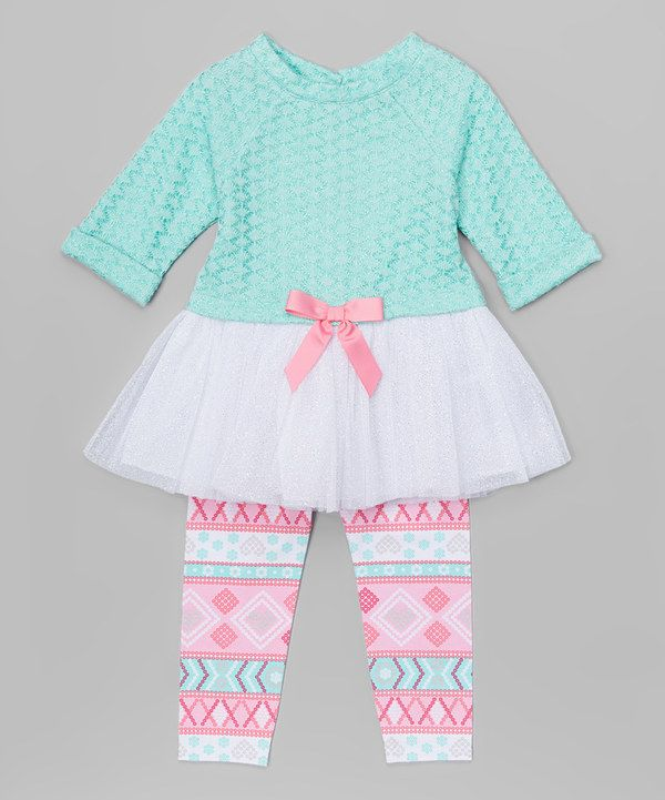 Look at this Youngland Light Blue & Pink Tunic & Leggings - Infant, Toddler & Girls on #zulily today!