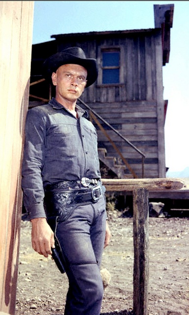 THE MAGNIFICENT SEVEN (1960) - Yul Brynner on location in Durango, Mexico - Directed by John Sturges - United Artists - Publicity Still.